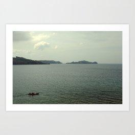 off to sea Art Print