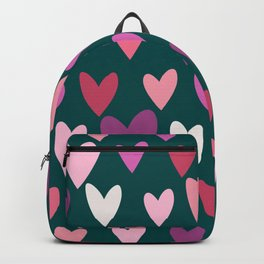Hearts print conversational Backpack