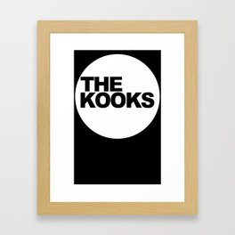the kooks logo Music Framed Art Print