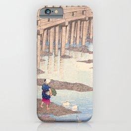 Japanese Woodblock - The Gion bridge at Hondo in Amakusa iPhone Case