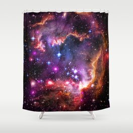 Small Magellanic Cloud's Starry Wingtip Shower Curtain