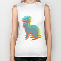 jackalope Biker Tanks featuring Jackalope by Glassy