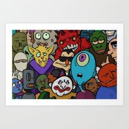 Cyclops Gang Art Print