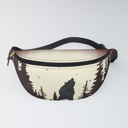Red Forest Fanny Pack