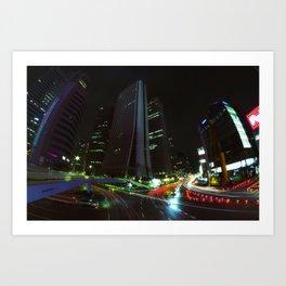 Nightfall in Tokyo Art Print