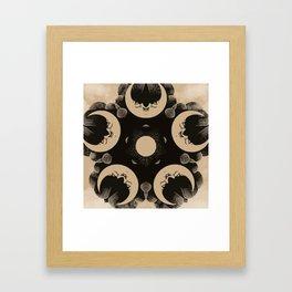 Ouija Wheel of the Moon - Beyond the Veil Framed Art Print