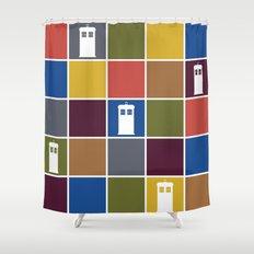 TARDIS Tiles Shower Curtain
