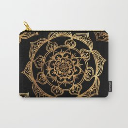 Gold Foil Mandala Carry-All Pouch