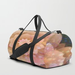 Floral Dimension Peach Duffle Bag