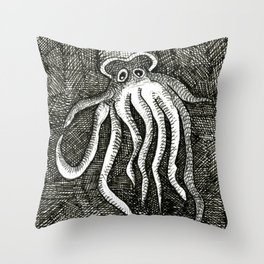 The Squid Throw Pillow