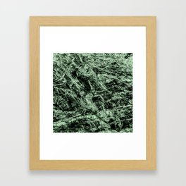 Abstract nature green camouflage Framed Art Print