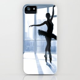 Urban Ballerina in Silhouette iPhone Case