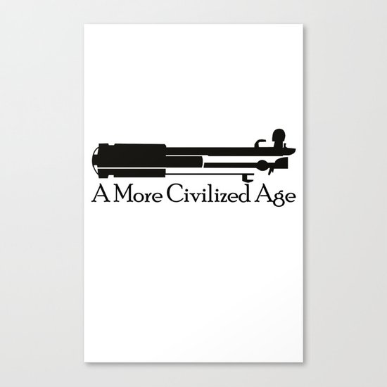 A More Civilized Age Canvas Print