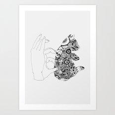 Y en la oscuridad también Art Print
