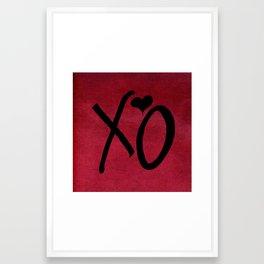 xo Framed Art Print