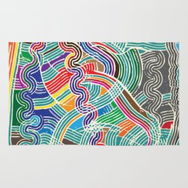 Happy Fork Waves Rug