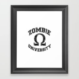 Zombie University Framed Art Print