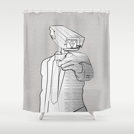 Sir Veillance Shower Curtain