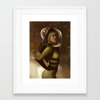 spaceman Framed Art Prints featuring Spaceman by Kelly Perry