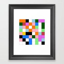 "Math Art Digital Print - ""ColoRs foR a laRge wall"" Framed Art Print"