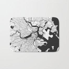 Boston Map Gray Bath Mat