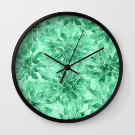 The Smell of Spring 3 / Monochrome / Green Wall Clock