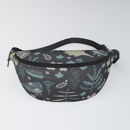 Night Nature Floral Pattern Fanny Pack