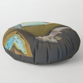 THE PERSISTENCE OF MEMORY--- SALVADOR DALÍ Floor Pillow