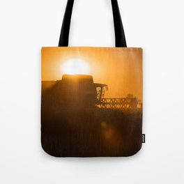 Midsummer time is harvest time of the cereal fields Tote Bag