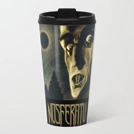 Nosferatu, Vintage Horror Movie Poster Travel Mug