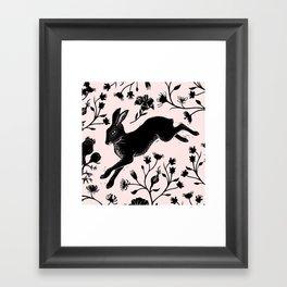 Hare & Vines Framed Art Print