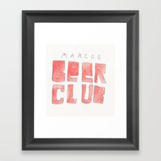 MARCOS BEER CLUB Framed Art Print