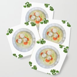 Passover Matzo Ball Soup (white) Coaster