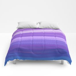 blue and violate wavy abstract Comforters