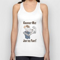 onward Tank Tops featuring Knockout Mice by Bill Nihilist