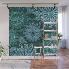 High Definition Mandala Ice Crystals Wall Mural