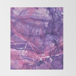 Smokey Ultra Violet and Pink Marble Throw Blanket