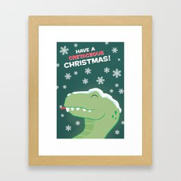 Cretaceous Christmas Framed Art Print