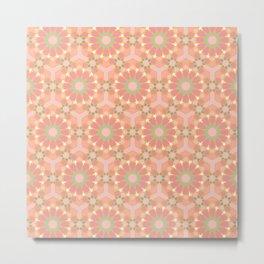 Autumn colors islamic geometric pattern Metal Print