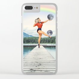 This is not a game Clear iPhone Case