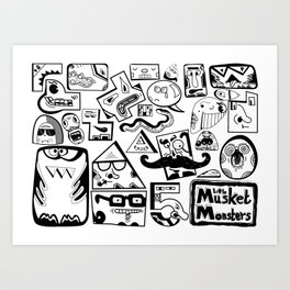 Little Musket Monsters Art Print