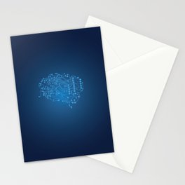 Electric brain Stationery Cards