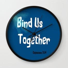 Bind Us Wall Clock