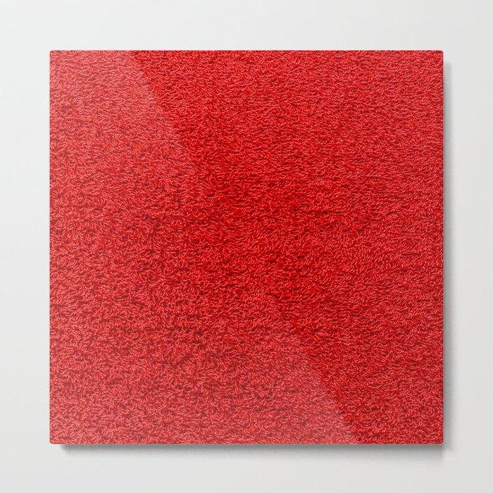 Rose Red Shag pile carpet pattern Metal Print