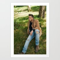 liam payne Art Prints featuring Liam Payne by behindthenoise