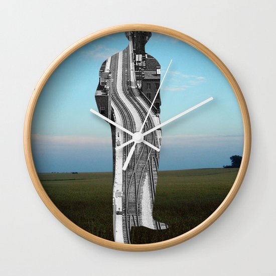 City Man´s Dream Collage Wall Clock