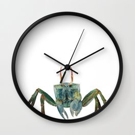 Ghost Crab Wall Clock