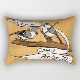 Rockin' Tits Rectangular Pillow