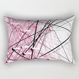 »Where« – Data visualization of a social network Rectangular Pillow