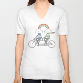 Love makes life a beautiful ride Unisex V-Neck